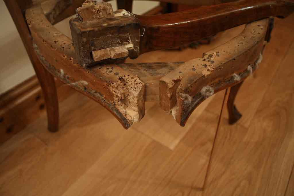 The Restoration Of A Carved Walnut With Severe Woodworm Damage - Woodworm  In Antique Furniture Antique. Treating ... - Treating Woodworm In Antique Furniture Antique Furniture